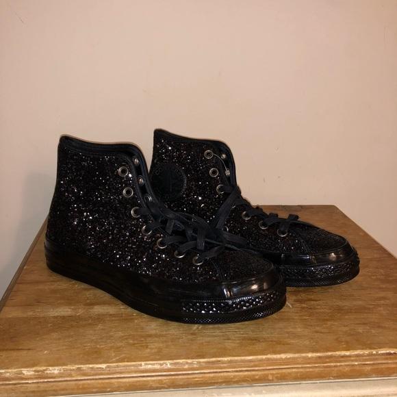 Converse Chuck Taylor Black Glitter High Tops 6